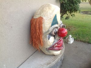 clown head paper mache 3