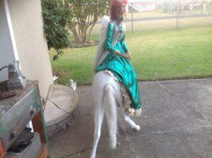 lady on horse animation 1