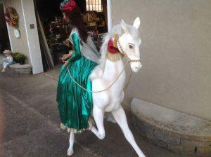 lady on horse animation