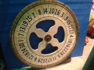 gambling wheel white 1