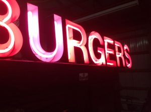 neon hamburger 8