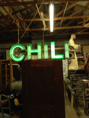neon chili sign