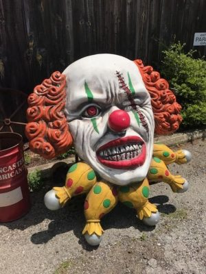 clown haunted house ugly