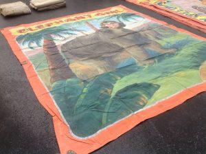 banner elephant girl 42019