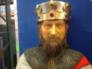 wax museum King with sword 1