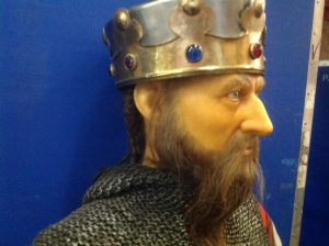 wax museum King with sword 2