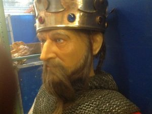 wax museum King with sword 3