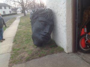 head roman ruin