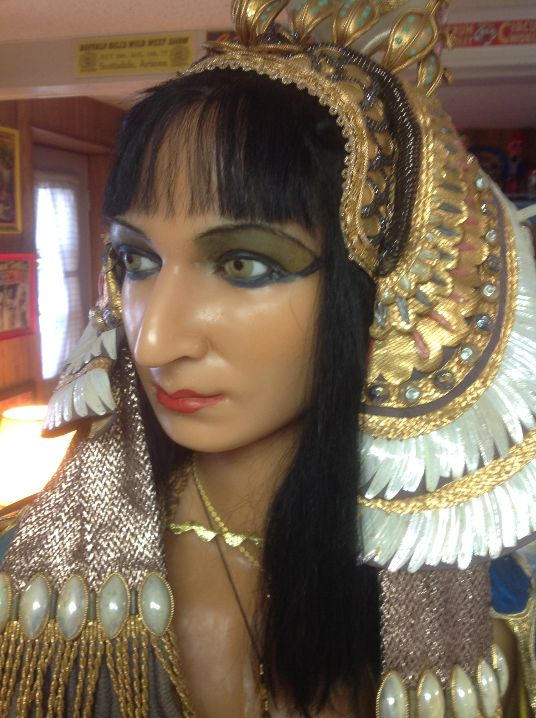 i will call her_Vintage Wax Museum Cleopatra Wax Figure « Obnoxious Antiques